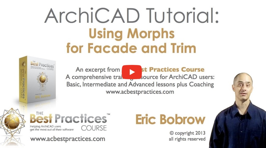 ARCHICAD Tutorial: How to Use Morphs for Facade and Trim