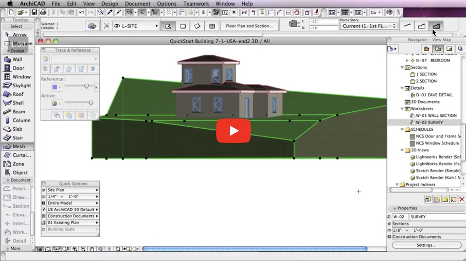 Basic Terrain and Site Modeling in ARCHICAD | ARCHICAD Tutorials