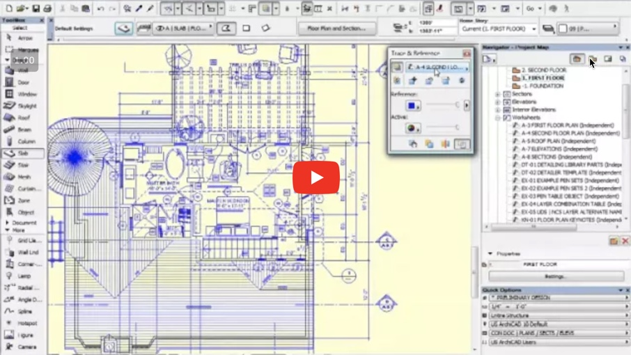 How to Trace 2D Drawings to Quickly Create a 3D ARCHICAD Model